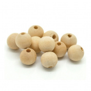 ROSENICE Round Ball Wood Spacer Beads Jewellery DIY Findings Charms 16mm 200pcs