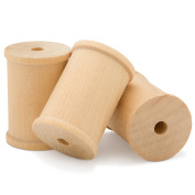 Large Unfinished Wooden Spools 5.1cm X 1-1/2 - Pack of 12 - By Woodpeckers