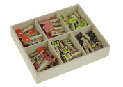 Mini Natural Wooden Clothespin 48pcs Adorable Photo Clip Memo Paper Cards Pictures Notes Craft Clip with Jute Cords and Wooden Case for Artwork Wedding Baby Showers Birthday Party Christmas Home Decor
