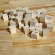 Supla 60pcs 2.5cm Natural Unfinished Craft Solid Wood Blocks Wood Cubes for DIY Craft Gifts