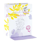 Soul Sisters One Heart Berry Botanical Medium Tissue Paper and Gift Bags with Handles 3 Pack