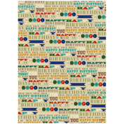 Simon Elvin 24 Sheets Designer Male Gift Wraps (One Size)