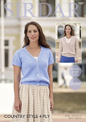 Sirdar Ladies Cardigans Country Style Crochet Pattern 7887 4 Ply