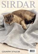Sirdar Fish Pattern & Garter Stitch Cat Blankets Country Style Knitting Pattern 7828 DK