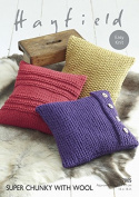 Hayfield Home Cushions With Wool Knitting Pattern 7805 Super Chunky
