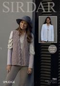 Sirdar Ladies Jacket & Waistcoat Smudge Knitting Pattern 7865 Chunky