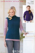 Sirdar Ladies & Girls Tops Country Style Knitting Pattern 7347 DK