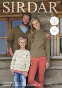 Sirdar Family Sweaters Country Style, Harrap Tweed & Crofter Knitting Pattern 7978 DK
