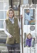 Hayfield Ladies Waistcoats & Scarf Knitting Pattern 7797 Aran