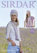 Sirdar Ladies Hats & Scarves Crofter Crochet Pattern 7906 DK