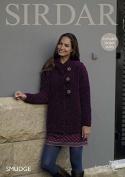 Sirdar Ladies Jacket Smudge Knitting Pattern 7871 Chunky