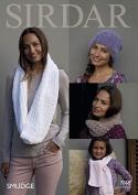 Sirdar Ladies & Girls Hat, Scarf & Snoods Smudge Knitting Pattern 7868 Chunky