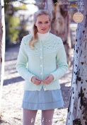 Hayfield Ladies Cardigan Bonus Knitting Pattern 7376 Aran