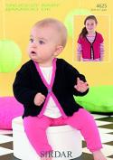 Sirdar Baby Cardigans Knitting Pattern 4625 DK