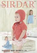 Sirdar Baby & Girls Cardigans, Bonnet & Blanket Baby Bamboo Knitting Pattern 4729 DK