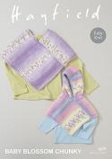 Hayfield Baby Ponchos Blossom Knitting Pattern 4679 Chunky