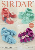 Sirdar Baby Sandals Shoes Crochet Pattern 4752 DK