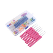 Crochet Hook Set, 16 Sizes Crochet Hooks Needles Stitches DIY Weave Yarn Kit Knitting Craft Set in Case