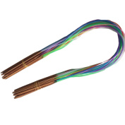 Multicolor Plastic Tube Circular Carbonised Double Pointed Bamboo Knitting Needles,pack of 18 - 40cm