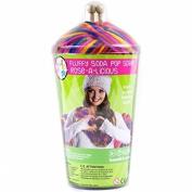 Bead Bazaar 432245 Soda Pop Scarf Knitting Kit-Rose-A-Licious