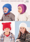 Sirdar Baby & Childrens Hats Snowflake Knitting Pattern 4592 DK