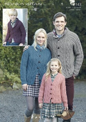 Hayfield Family Cardigans Bonus Knitting Pattern 7143 Aran