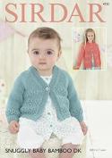 Sirdar Baby & Girls Cardigans Baby Bamboo Knitting Pattern 4733 DK