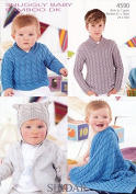 Sirdar Baby Sweater, Hat & Blanket Knitting Pattern 4590 DK