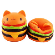 Kingdommax Kawaii Cat Hamburger Bread Squishies Super Slow Rising Stress Relief Squeeze Toy