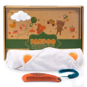 aGreatLife® Bamboo Hooded Towel - Best Organic Bamboo Baby Hooded Towel - Hooded Towel Made Extra Soft - Baby Bamboo Hooded Towel That Keeps Baby Dry and Warm - Most Ideal Eco-Friendly Baby Bath Towels with Hood