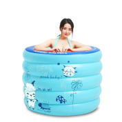 SUN LL Folding Bath Home Inflatable Bathtub Adult Children Round Plastic Bathtub Bath Barrels Plastic Bath Tub Air Baths