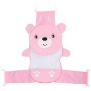 Cute Cartoon Newborn Baby Bath Tub Bathtub Support Seat Net Adjustable Bathtub Security Seat for 0-2 Year Old Baby Pink