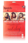 My Spa Life Facial Mask, Red Clay Mineral Oxides & Nutrients , 3 Ct