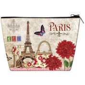 OH Fashion Women travel Cosmetic bag, travel case , make up case Paris style, 1ea