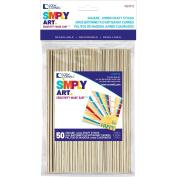 Loew Cornell Simply Art Craft Stick 1x6 SqEnd 50pc