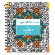 Spiral-Bound Colouring Book 23cm x 22cm -Inspired Patterns