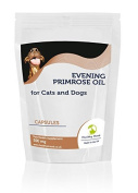 Evening Primrose Oil 500mg for Cats and Dogs Pets 30 Capsules Health Food Nutrition Supplements HEALTHY MOOD