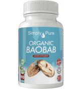 New, Organic Baobab 90x Capsules, 100% Natural Soil Association Certified, High Strength 500mg, Immune Function, Detox, Antioxidant, Improved Skin, Gluten Free, Vegan, , Simply Pure, Moneyback Guarantee.