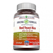 Amazing Nutrition Red Yeast Rice 600 Mg Plus Co Q10 60 Mg 120 Softgels