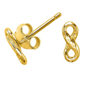DOWER & HALL Entwined 18ct Yellow Gold Plated on Silver Infinity Stud Earrings