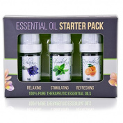 Aroma2Go Pure 5ml Essential Oils Set | Peppermint, Lavender, Sweet Orange