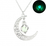 HOUSWEETY Alloy Luminous Necklace Mens Womens Pendant Necklace