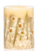 BEACH DAISY Rosy Rings Medium 17cm 200 Hour Pillar Botanical Scented Candle