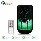 Yusen Aromatherapy Essential Oil Diffuser Ultrasonic Cool Mist Diffusers Waterless Auto Shut-off with 7 Colour LED Lights-Warm Night