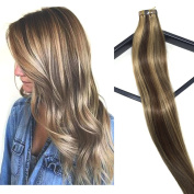 Mario Hair Tape in Hair Extensions Human Hair Extensions with Highlights Silky Straight Skin Weft Human Remy Hair