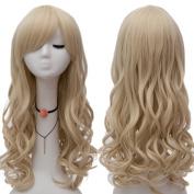 "Netgo Blonde Cosplay Wig 26"" 65cm Long Wavy Fashion Women's Heat Resistanmt Sythetic Halloween Costume Party Princess Wigs ¡"