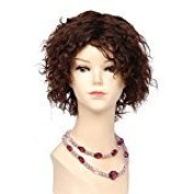 Mike & Mary Short Curly Human Hair Wigs for Women #4 Brown Hair Colour Wigs