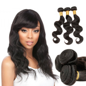 Zing Silky Hair Brazilian Virgin Hair Body Wave Remy Human Hair 3 Bundles Weaves 100% Unprocessed Hair Extensions Natural Colour