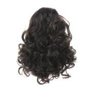WeKen Hair Bun Medium Long Curly Synthetic Hairpiece Black Brown