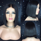 Short Bob Wigs Lace Front Brazilian Human Hair Wig 130%-180% Density with Baby Hair Straight Lace Front Wigs